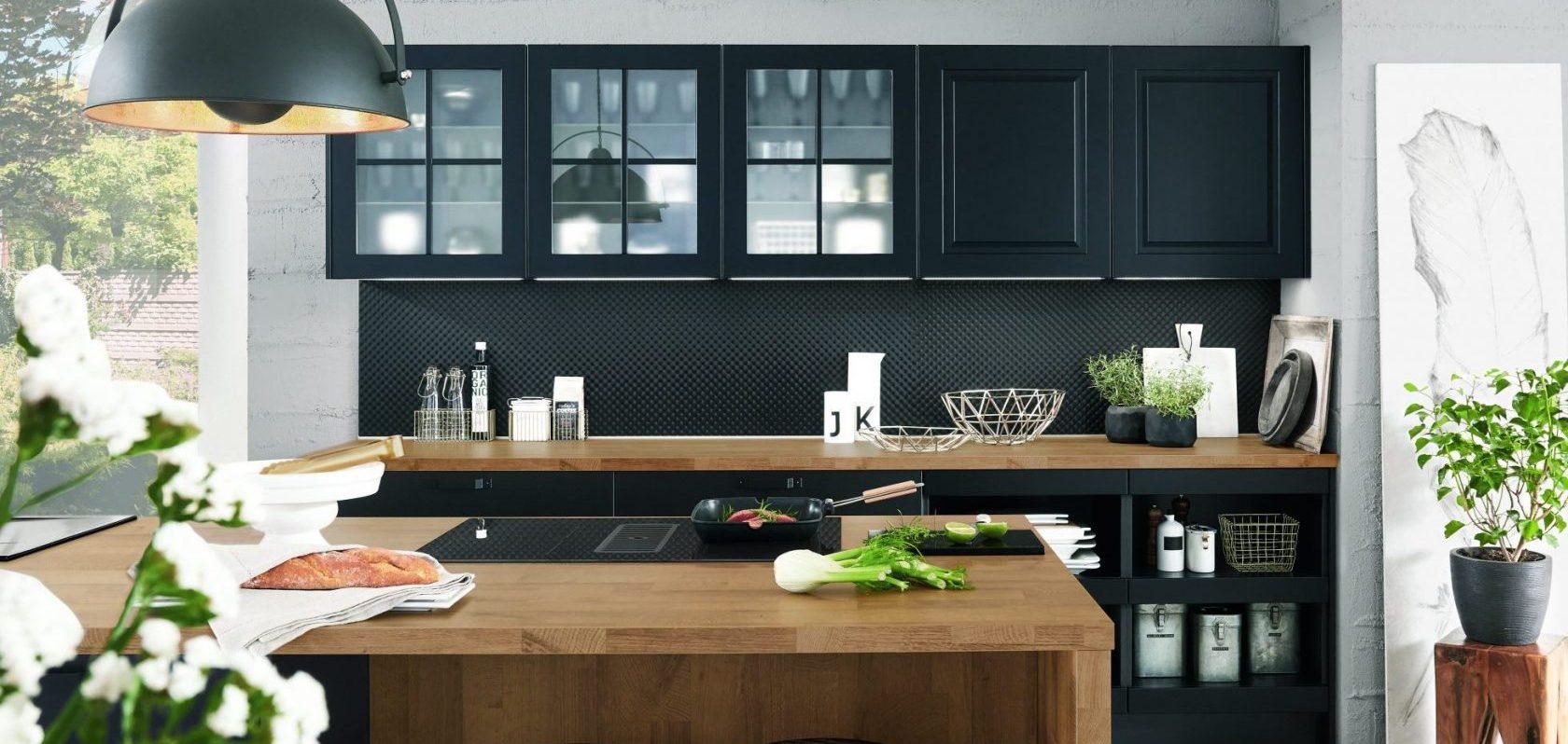 Черный цвет в кухне