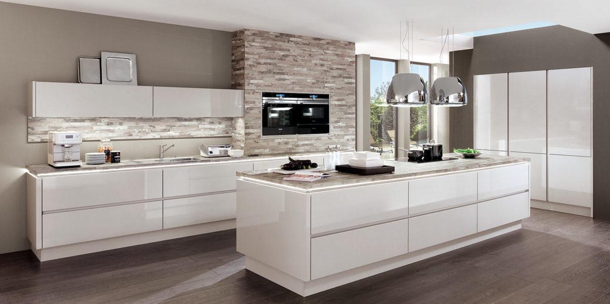 Глянцевая кухня lux, nobilia