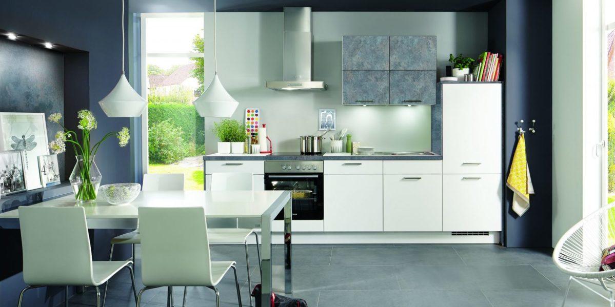 Белая кухня nobilia Laser
