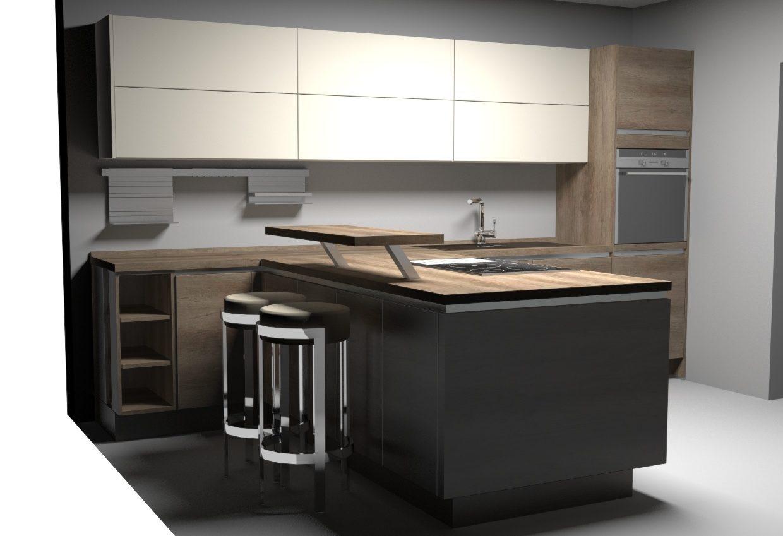 Кухня Riva с элементами Touch