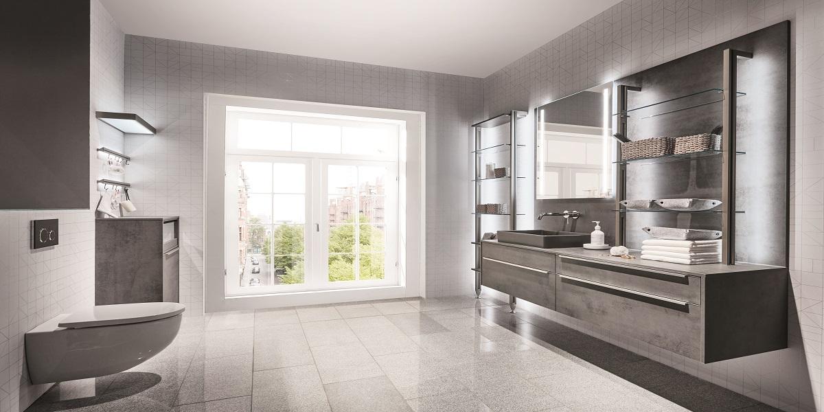 Мебель для ванной Riva бетон, nobilia