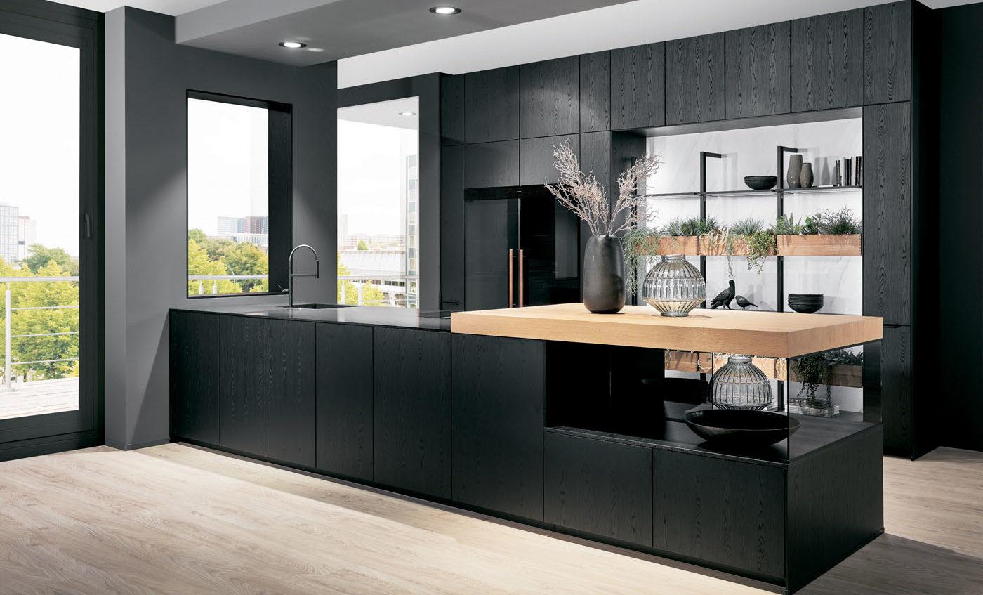 Черная кухня Structura403, Nobilia