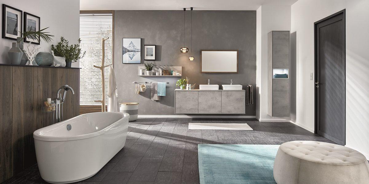 Мебель для ванной Riva Beton, nobilia