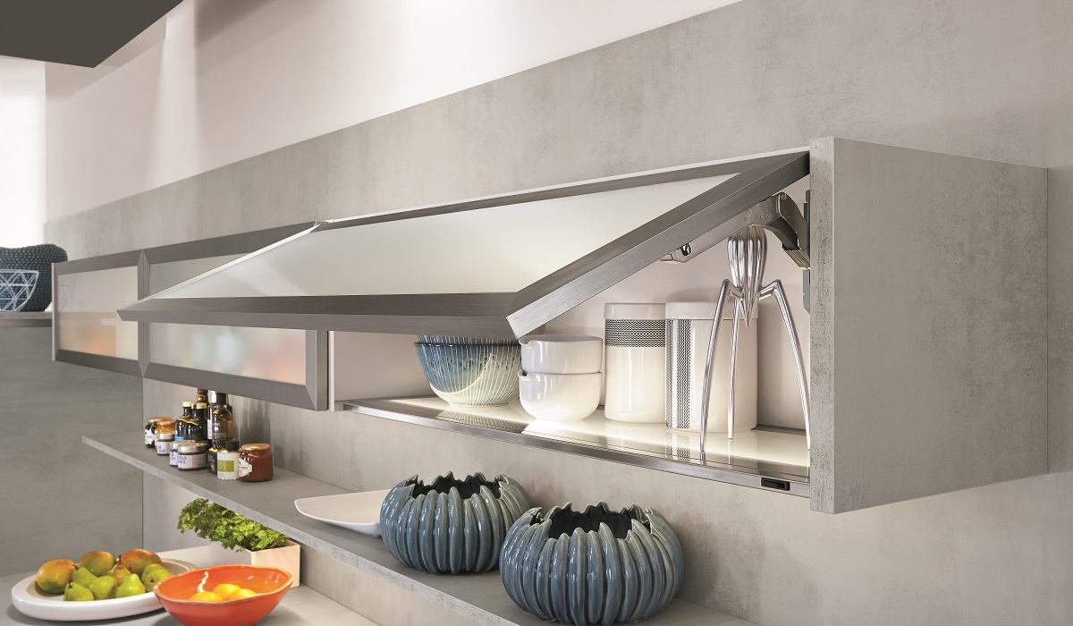 Подвесные шкафы для кухни Riva892 Beton, nobilia