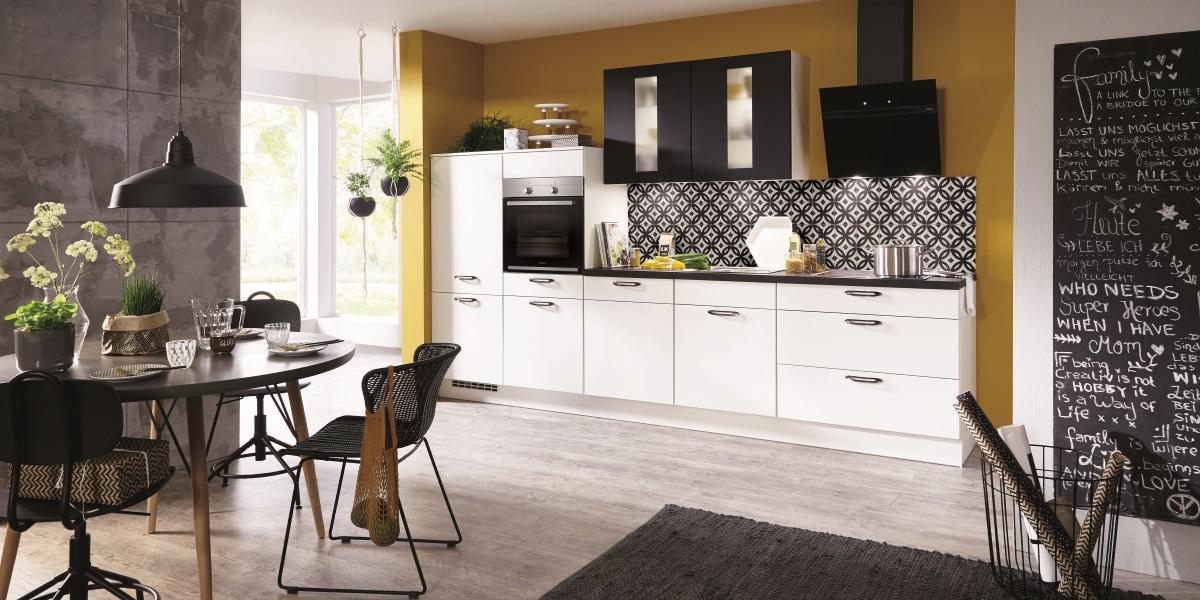 Черно-белая кухня Fashion, nobilia