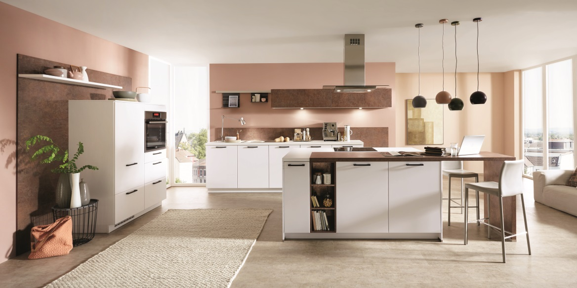 Белая кухня Fashion, nobilia