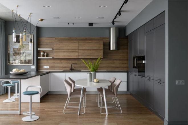 «Пепел розы» — интерьер квартиры в Новосибирске с кухней nobilia. Проект студии дизайна QUATTRO на страницах журнала «In/Ex»
